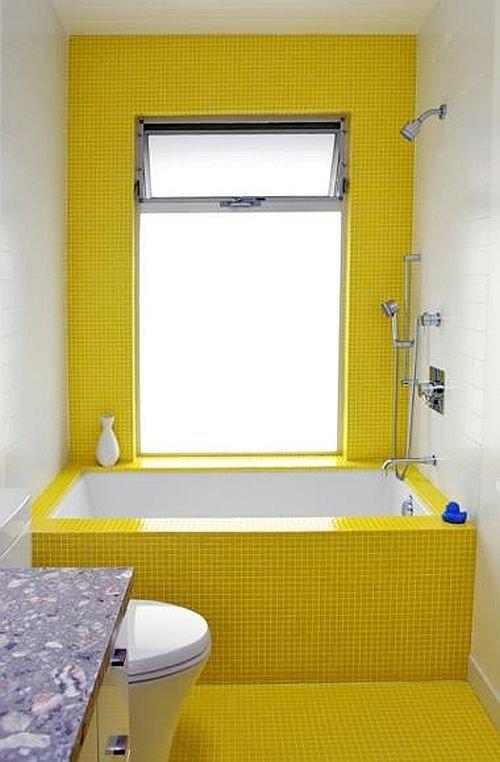 Фотография: Ванная в стиле Современный, Декор интерьера, Дизайн интерьера, Цвет в интерьере, Желтый – фото на INMYROOM