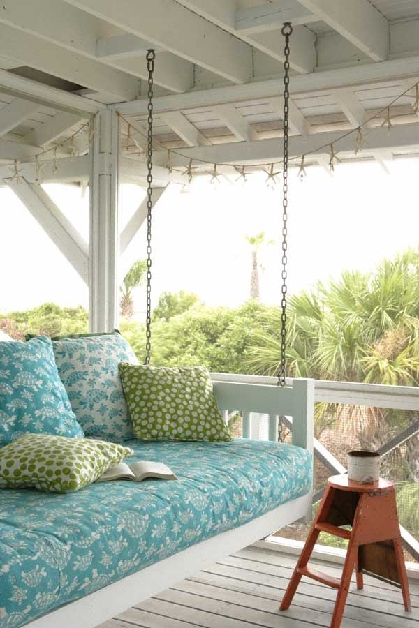 Фотография: Балкон, Терраса в стиле Современный, DIY, Дом, Ландшафт, Стиль жизни, Дача, Гамак, Качели – фото на INMYROOM