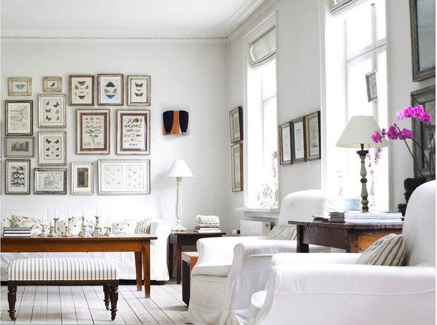 Фотография: Гостиная в стиле Скандинавский, Квартира, Аксессуары, Декор, Мебель и свет, Белый, Гид, гид по белым комнатам, психология белого, практичный белый, белая прихожая, белая спальня, белая гостиная, белая ванная, белая кухня, белая детская – фото на INMYROOM
