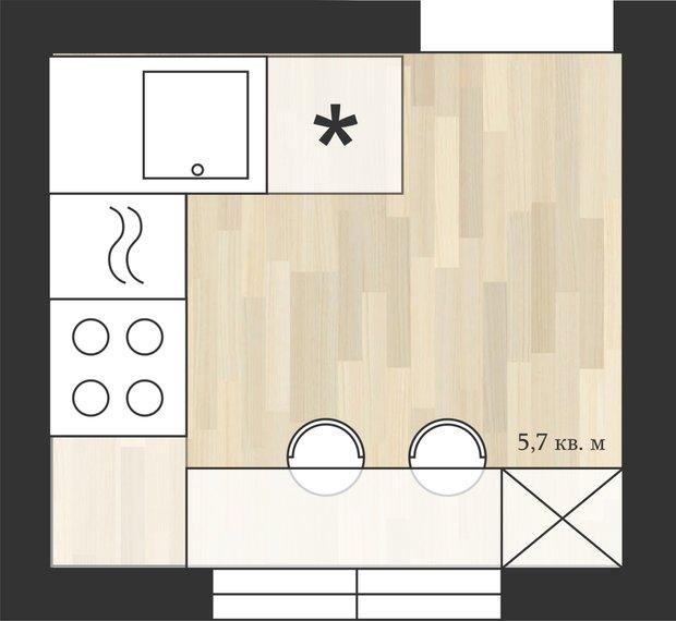Фотография:  в стиле , Кухня и столовая, Перепланировка, дом серии II-29, Анастасия Киселева, Максим Джураев, дом серии 1-447, Дом серии II-18/12Б, II-29 – фото на INMYROOM