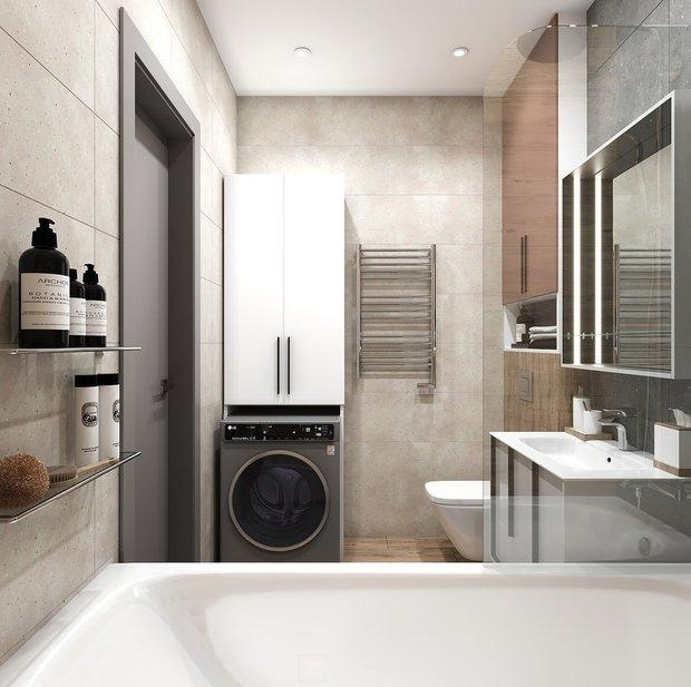 Фотография: Ванная в стиле Современный, Квартира, Студия, Дом, Перепланировка, малогабаритка, до 40 метров, CoolaginDesign, Артем Кулагин – фото на INMYROOM