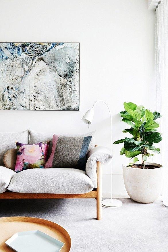 Фотография: Гостиная в стиле Современный, Декор интерьера, Флористика, Декор, Советы – фото на INMYROOM