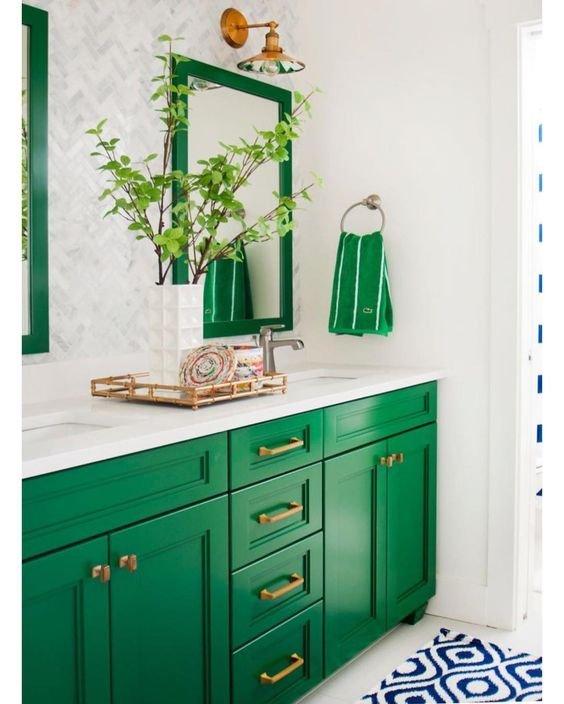 Фотография: Ванная в стиле Скандинавский, Советы, Зеленый – фото на INMYROOM