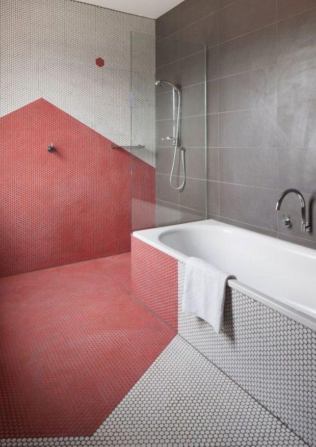 Фотография: Ванная в стиле Современный, Декор интерьера, Зеленый, Бежевый, Серый, Розовый, Голубой – фото на INMYROOM