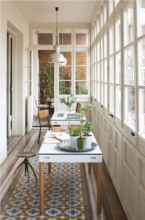 Фотография: Балкон, Терраса в стиле Скандинавский, Кабинет, Интерьер комнат – фото на INMYROOM