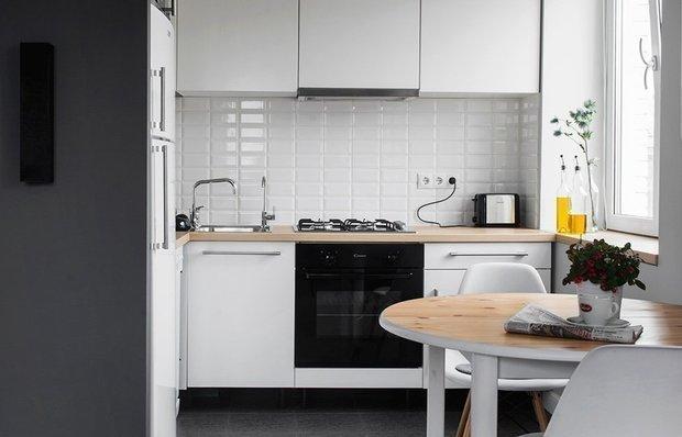 Фотография: Кухня и столовая в стиле Современный, Малогабаритная квартира, Гид, энциклодпедия_малогабаритка – фото на INMYROOM