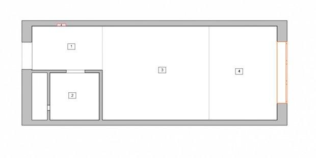 Фотография: Планировки в стиле , Малогабаритная квартира, небольшая спальня – фото на INMYROOM