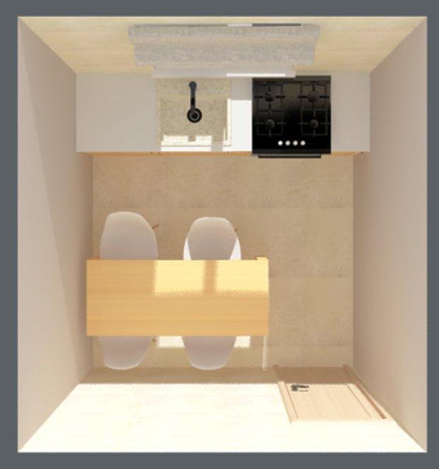 Фотография: Планировки в стиле , Кухня и столовая, Малогабаритная квартира, Советы, Перепланировка, Диана Мальцева, идеи обустройства узкой кухни, планировка узкой кухни в хрущевке, дом серии I-515/5, I-515/5 – фото на INMYROOM