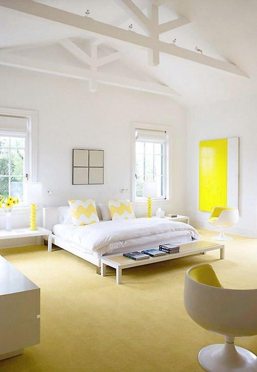 Фотография: Спальня в стиле Скандинавский, Декор интерьера, Дизайн интерьера, Цвет в интерьере, Желтый – фото на INMYROOM