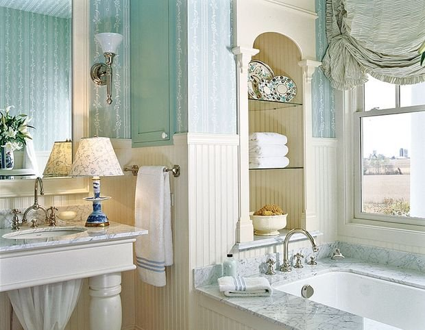 Фотография: Ванная в стиле Прованс и Кантри, Декор интерьера, Квартира, Дом – фото на INMYROOM