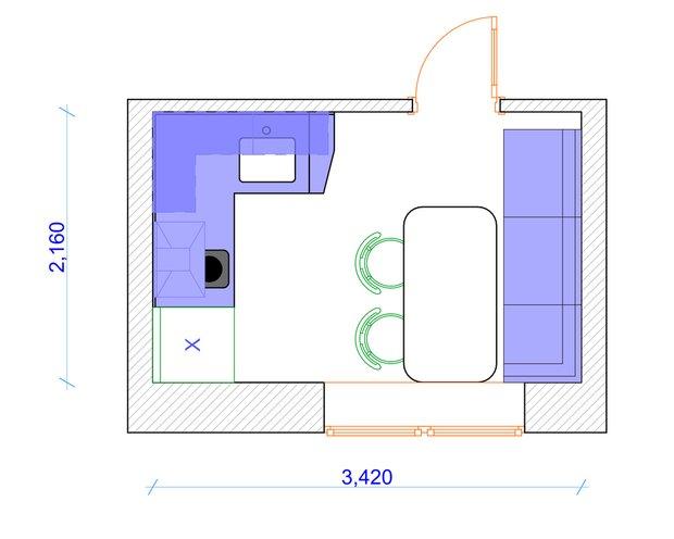 Фотография: Прочее в стиле , Кухня и столовая, Квартира, Дома и квартиры, П44т – фото на INMYROOM