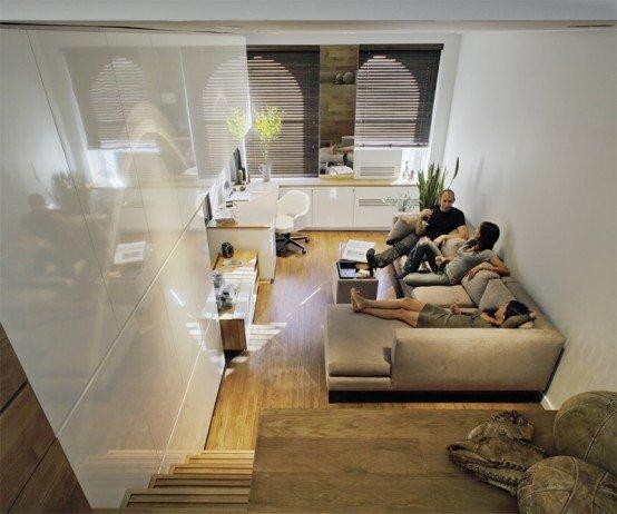 Фотография: Спальня в стиле Лофт, Декор интерьера, Малогабаритная квартира, Квартира, Цвет в интерьере, Дома и квартиры, Белый – фото на INMYROOM