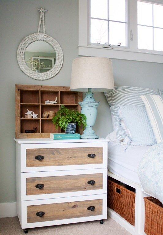 Фотография: Спальня в стиле Скандинавский, Декор интерьера, DIY, Мебель и свет, Переделка, Комод – фото на INMYROOM
