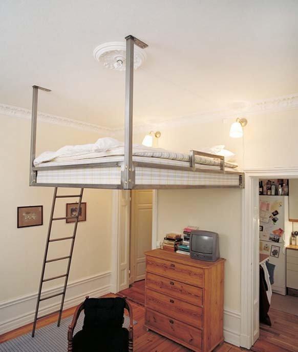 Фотография: Спальня в стиле Лофт, Интерьер комнат, Хрущевка – фото на INMYROOM