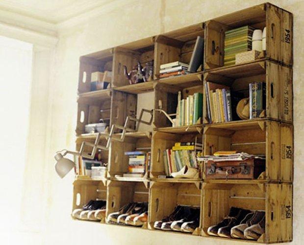 Фотография: Мебель и свет в стиле Прованс и Кантри, Современный, Системы хранения, Библиотека, Домашняя библиотека – фото на INMYROOM