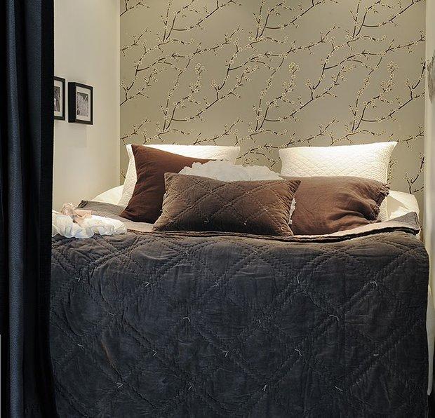 Фотография: Спальня в стиле Современный, Скандинавский, Малогабаритная квартира, Квартира, Дома и квартиры – фото на INMYROOM