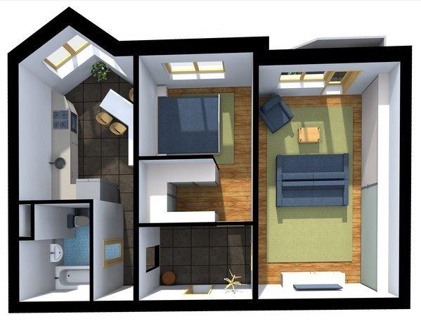 Фотография: Планировки в стиле , Малогабаритная квартира, Индустрия, События, Проект недели, Перепланировка – фото на INMYROOM