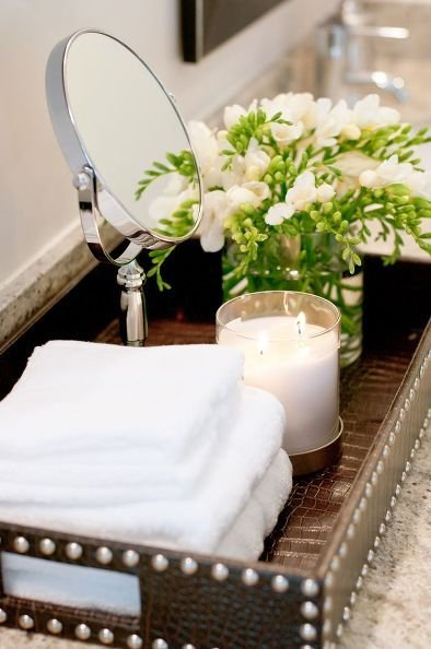 Фотография: Ванная в стиле Минимализм, Эко, Современный, Декор интерьера, Дизайн интерьера, Декор, Зеленый, Ванна – фото на INMYROOM