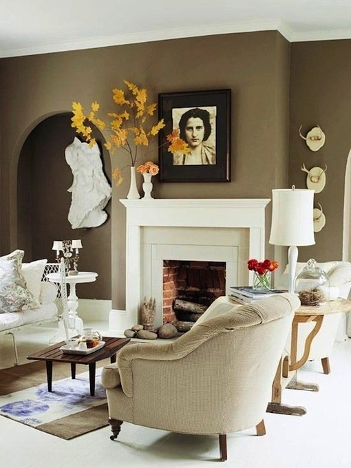 Фотография: Гостиная в стиле Современный, Декор интерьера, DIY, Дом, Цвет в интерьере, Оранжевый – фото на INMYROOM