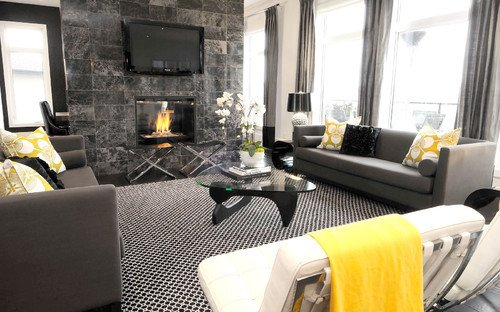 Фотография: Гостиная в стиле Лофт, Декор интерьера, Текстиль – фото на INMYROOM