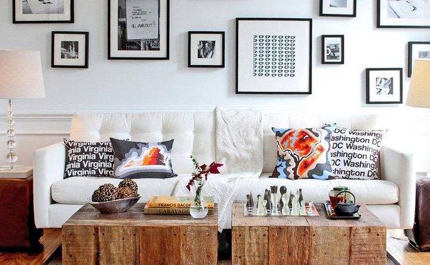 Фотография: Гостиная в стиле Скандинавский, Декор интерьера, Аксессуары, Декор, Декор дома, Цветы, Журнальный столик – фото на INMYROOM
