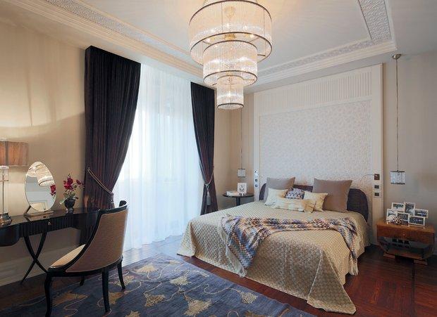 Фотография: Спальня в стиле Классический, Квартира, Проект недели, Москва, Ар-деко, Faber Group – фото на INMYROOM