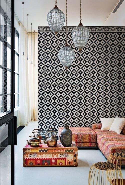 Фотография: Гостиная в стиле Восточный, Декор интерьера, Декор, марроканский стиль в интерьере, марокканский стиль – фото на INMYROOM