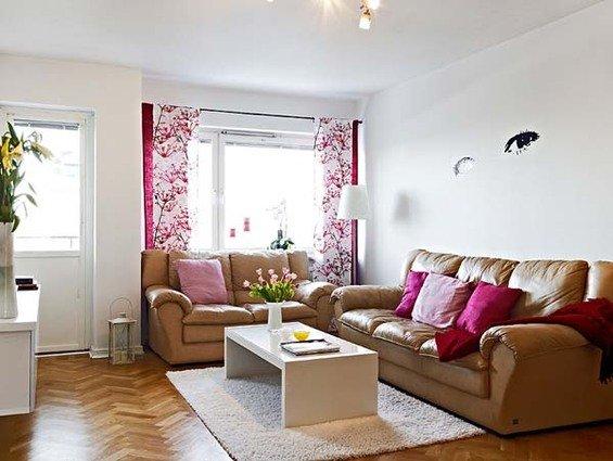Фотография: Гостиная в стиле Прованс и Кантри, Малогабаритная квартира, Квартира, Швеция, Дома и квартиры – фото на INMYROOM