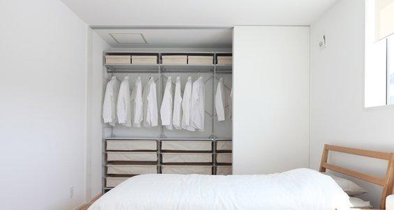 Фотография: Спальня в стиле Минимализм, Гардеробная, Советы – фото на INMYROOM