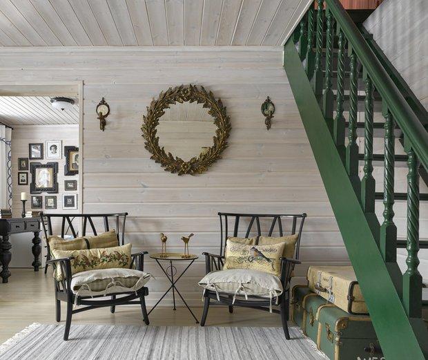 Фотография: Прихожая в стиле Прованс и Кантри, Гид, Belinka, как покрасить дачу, дачные домики – фото на INMYROOM