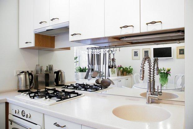 Фотография: Кухня и столовая в стиле Современный, Малогабаритная квартира, Квартира, Дома и квартиры, IKEA, Проект недели, Галина Юрьева – фото на INMYROOM