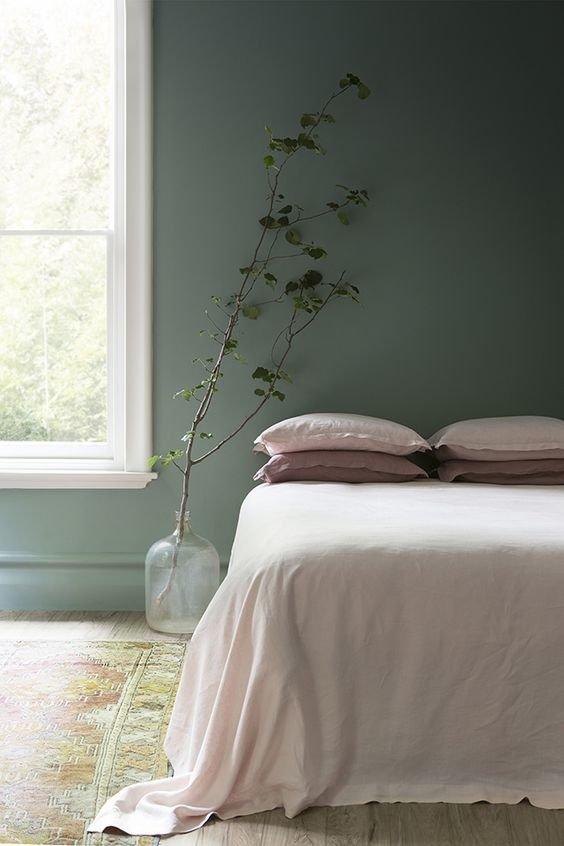 Фотография: Спальня в стиле Скандинавский, Советы, Зеленый, Желтый, Синий, Серый, Голубой – фото на INMYROOM