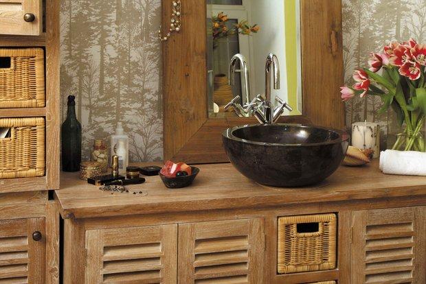 Фотография: Ванная в стиле Прованс и Кантри, Современный, Интерьер комнат, Teak House, Эко – фото на INMYROOM