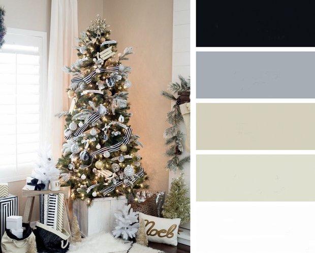 Фотография:  в стиле , Советы, Новый Год, цветовые сочетания, цветовые схемы для интерьера, новогоднее оформление интерьера, новогодний декор интерьера – фото на INMYROOM