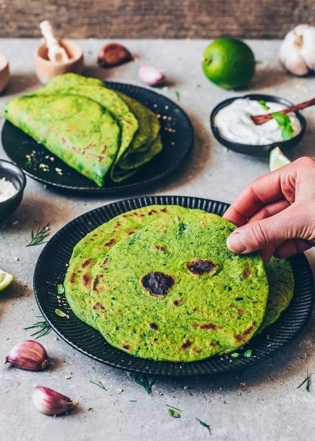 Фотография:  в стиле , Закуска, Здоровое питание, Вегетарианская, Жарить, Закуски, Кулинарные рецепты, 30 минут, Мексиканская кухня, Просто, Шпинат – фото на INMYROOM