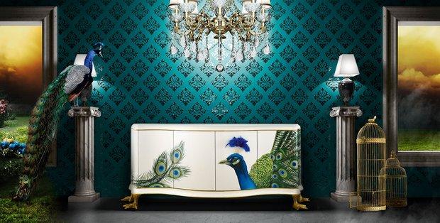 Фотография: Декор в стиле Классический, Современный, Эклектика, Гостиная, Интерьер комнат, Lola Glamour, Комод – фото на INMYROOM