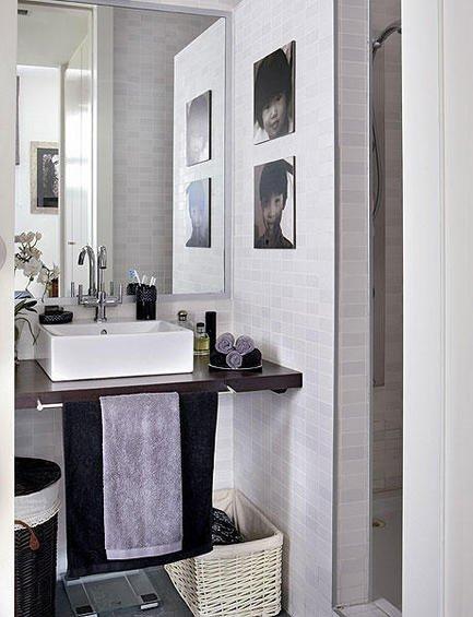 Фотография: Ванная в стиле Современный, Декор интерьера, Малогабаритная квартира, Квартира, Дома и квартиры, Пол, Индустриальный – фото на INMYROOM