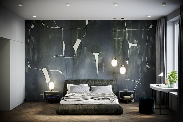 Фотография:  в стиле , Спальня, Гид, спальня с гардеробом, как оформить рабочее место в спальне, стиральная машина в спальне – фото на INMYROOM