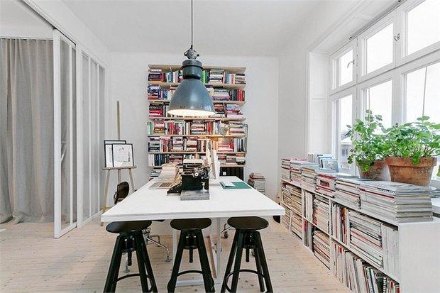 Фотография: Офис в стиле Скандинавский, Современный, Декор интерьера, Квартира, Цвет в интерьере, Дома и квартиры, Белый, Индустриальный – фото на INMYROOM