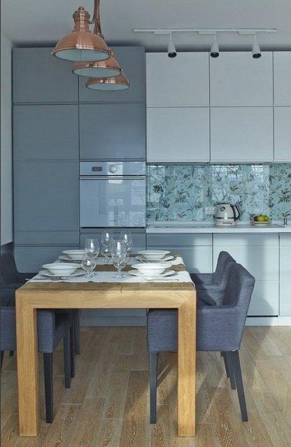 Фотография: Кухня и столовая в стиле , Малогабаритная квартира, Индустрия, События, Проект недели, Перепланировка – фото на InMyRoom.ru