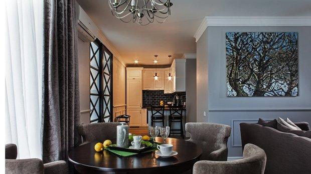 Фотография: Кухня и столовая в стиле Современный, Малогабаритная квартира, Квартира, Индустрия, События – фото на INMYROOM