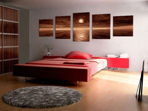 Фотография: Спальня в стиле Современный, Декор интерьера, Декор дома, Картины, Постеры – фото на INMYROOM