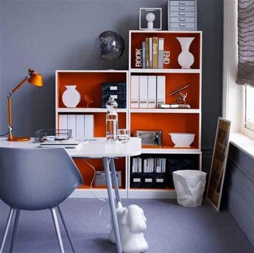 Фотография: Офис в стиле Скандинавский, Современный, Декор интерьера, Дизайн интерьера, Цвет в интерьере, Оранжевый – фото на INMYROOM