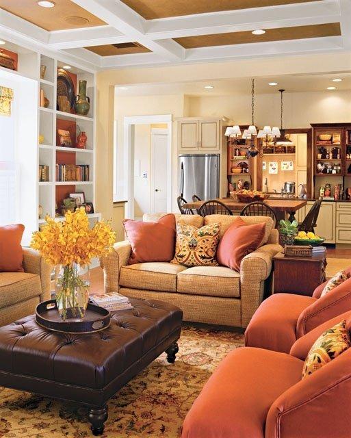 Фотография: Гостиная в стиле Прованс и Кантри, Кухня и столовая, Интерьер комнат – фото на INMYROOM