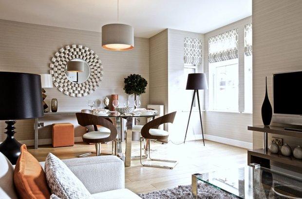 Фотография: Кухня и столовая в стиле Современный, Декор интерьера, Текстиль, Шторы – фото на InMyRoom.ru