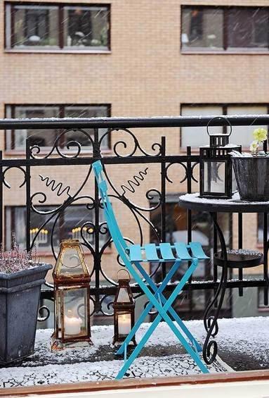 Фотография: Балкон в стиле Прованс и Кантри, Квартира, Швеция, Мебель и свет, Дома и квартиры, Гетеборг – фото на INMYROOM
