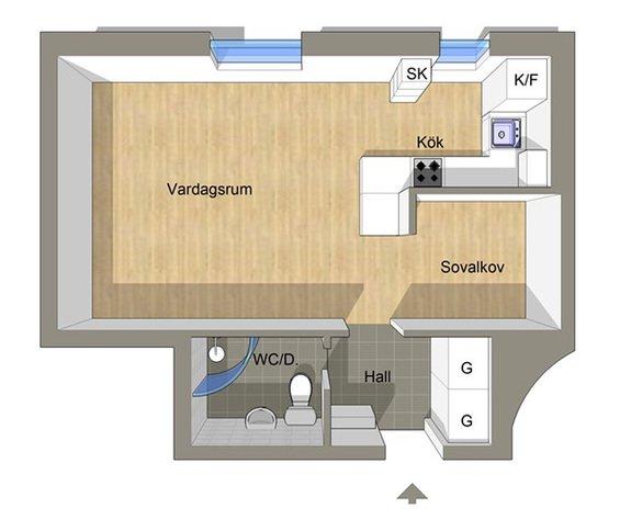 Фотография: Планировки в стиле , Скандинавский, Декор интерьера, Малогабаритная квартира, Квартира, Цвет в интерьере, Дома и квартиры, Белый – фото на INMYROOM