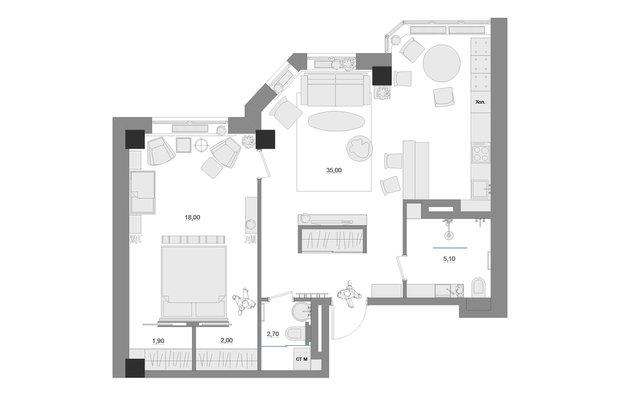 Фотография: Планировки в стиле , Квартира, Дома и квартиры, IKEA – фото на INMYROOM