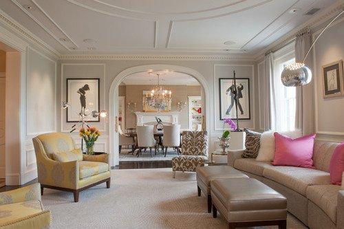 Фотография: Гостиная в стиле , Квартира, Дома и квартиры, Пентхаус, Картины – фото на INMYROOM