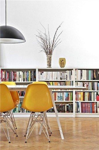 Фотография: Кухня и столовая в стиле Лофт, Современный, Декор интерьера, Дизайн интерьера, Цвет в интерьере, Желтый – фото на InMyRoom.ru
